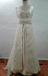 vestido de novia despues